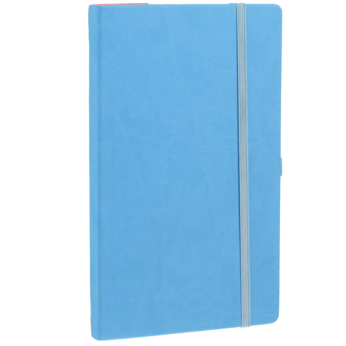 Записная книжка Erich Krause Festival, цвет: голубой, 96 листов36756Записная книжка Erich Krause Festival - это дополнительный штрих к вашему имиджу. Демократичная в своем содержании, книжка может быть использована не только для личных пометок и записей, но и как недатированный ежедневник. Надежная твердая обложка из плотного приятного на ощупь картона сохранит ее в аккуратном состоянии на протяжении всего времени использования. Плотная в линейку бумага белого цвета, закладка-ляссе, практичные скругленные углы, эластичная петелька для ручки и внутренний бумажный карман на задней обложке - все это обеспечит вам истинное удовольствие от письма. В начале книжки имеется страничка для заполнения личных данных владельца, четыре страницы для заполнения адресов, телефонов и интернет-почты и четыре страницы для заполнения сайтов и ссылок. Благодаря небольшому формату книжку легко взять с собой. Записная книжка плотно закрывается при помощи фиксирующей резинки.