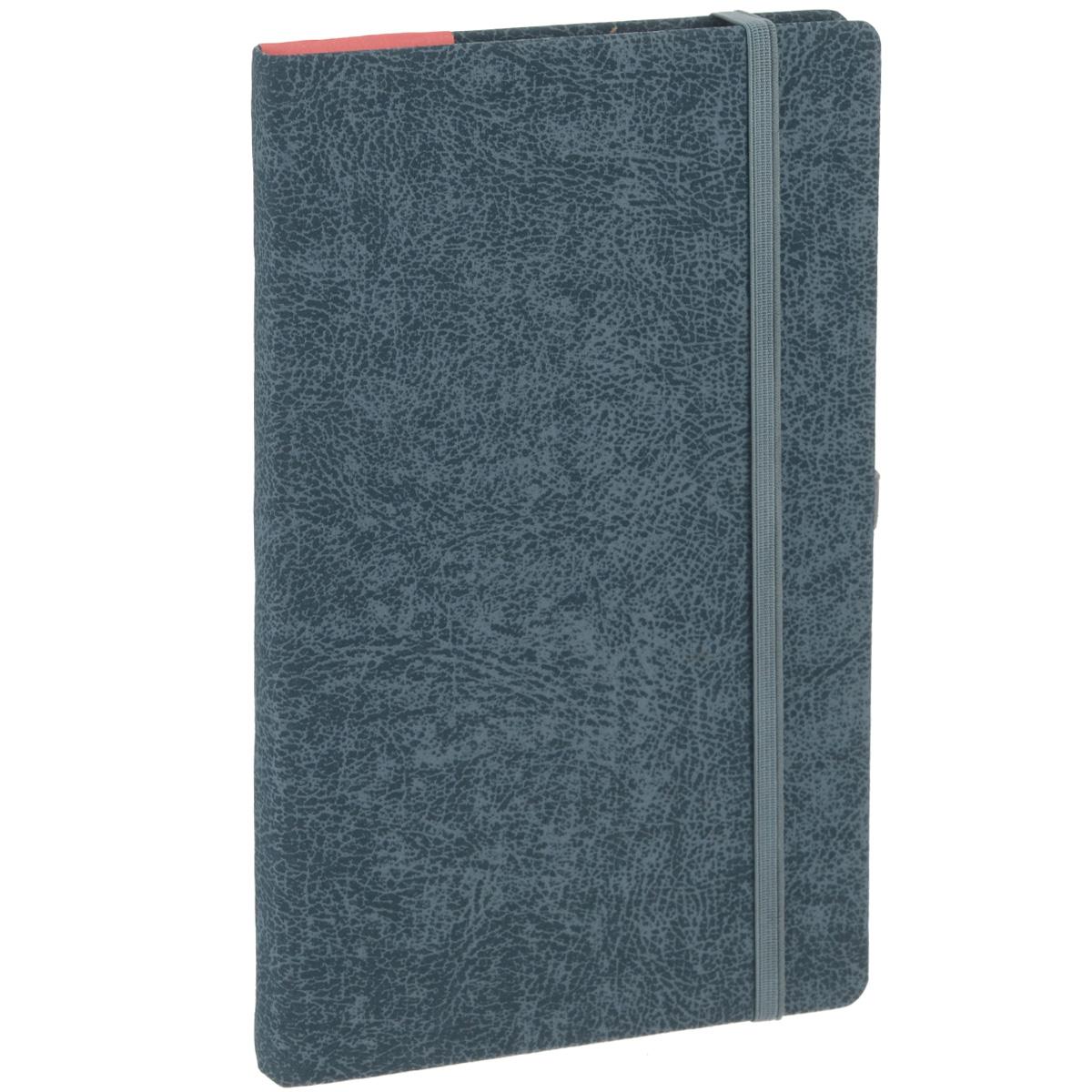 Записная книжка Erich Krause Perfect, цвет: серый, 96 листов36768Записная книжка Erich Krause Perfect - это дополнительный штрих к вашему имиджу. Демократичная в своем содержании, книжка может быть использована не только для личных пометок и записей, но и как недатированный ежедневник. Надежная твердая обложка из плотного картона с тиснением под кожу сохранит ее в аккуратном состоянии на протяжении всего времени использования. Плотная в линейку бумага белого цвета, закладка-ляссе, практичные скругленные углы, эластичная петелька для ручки и внутренний бумажный карман на задней обложке - все это обеспечит вам истинное удовольствие от письма. В начале книжки имеется страничка для заполнения личных данных владельца, четыре страницы для заполнения адресов, телефонов и интернет-почты и четыре страницы для заполнения сайтов и ссылок. Благодаря небольшому формату книжку легко взять с собой. Записная книжка плотно закрывается при помощи фиксирующей резинки.