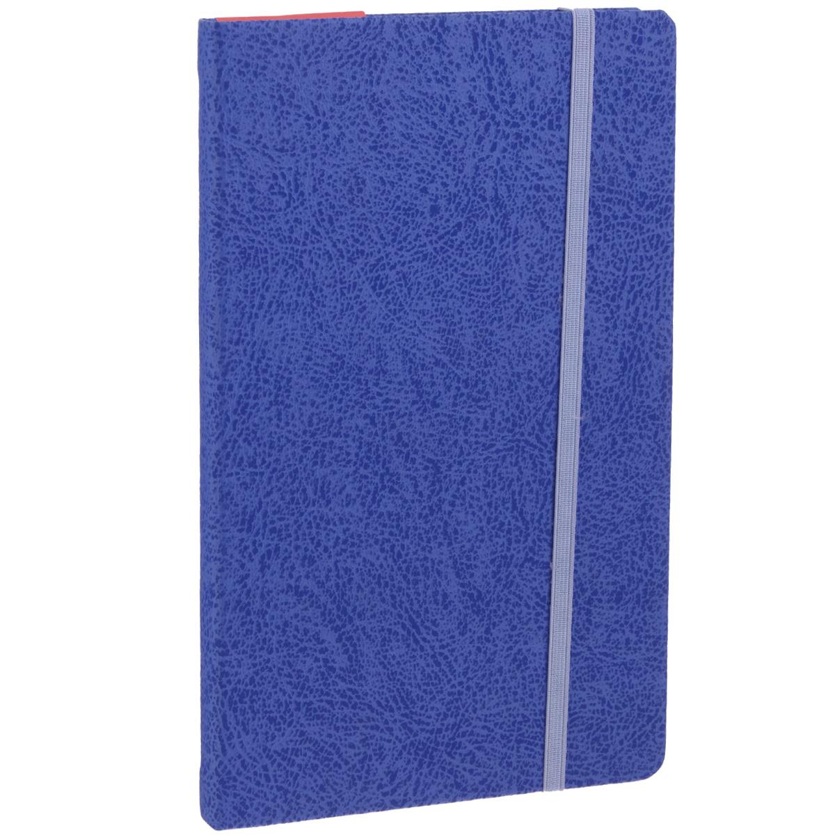 Записная книжка Erich Krause Perfect, цвет: синий, 96 листов36769Записная книжка Erich Krause Perfect - это дополнительный штрих к вашему имиджу. Демократичная в своем содержании, книжка может быть использована не только для личных пометок и записей, но и как недатированный ежедневник. Надежная твердая обложка из плотного картона с тиснением под кожу сохранит ее в аккуратном состоянии на протяжении всего времени использования. Плотная в линейку бумага белого цвета, закладка-ляссе, практичные скругленные углы, эластичная петелька для ручки и внутренний бумажный карман на задней обложке - все это обеспечит вам истинное удовольствие от письма. В начале книжки имеется страничка для заполнения личных данных владельца, четыре страницы для заполнения адресов, телефонов и интернет-почты и четыре страницы для заполнения сайтов и ссылок. Благодаря небольшому формату книжку легко взять с собой. Записная книжка плотно закрывается при помощи фиксирующей резинки.