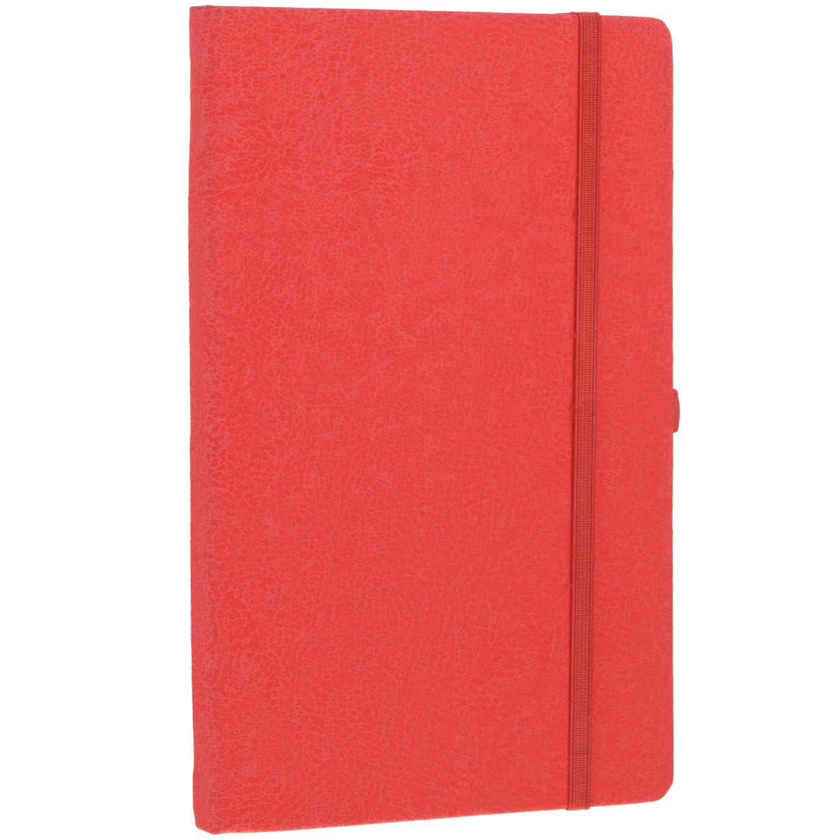 Записная книжка Erich Krause Perfect, цвет: красный, 96 листов36770Записная книжка Erich Krause Perfect - это дополнительный штрих к вашему имиджу. Демократичная в своем содержании, книжка может быть использована не только для личных пометок и записей, но и как недатированный ежедневник. Надежная твердая обложка из плотного картона с тиснением под кожу сохранит ее в аккуратном состоянии на протяжении всего времени использования. Плотная в линейку бумага белого цвета, закладка-ляссе, практичные скругленные углы, эластичная петелька для ручки и внутренний бумажный карман на задней обложке - все это обеспечит вам истинное удовольствие от письма. В начале книжки имеется страничка для заполнения личных данных владельца, четыре страницы для заполнения адресов, телефонов и интернет-почты и четыре страницы для заполнения сайтов и ссылок. Благодаря небольшому формату книжку легко взять с собой. Записная книжка плотно закрывается при помощи фиксирующей резинки.
