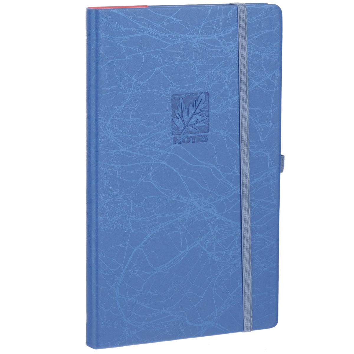 Записная книжка Erich Krause Scribble, цвет: синий, 96 листов36772Записная книжка Erich Krause Scribble - это дополнительный штрих к вашему имиджу. Демократичная в своем содержании, книжка может быть использована не только для личных пометок и записей, но и как недатированный ежедневник. Надежная твердая обложка из плотного картона, обтянутого искусственной кожей, сохранит ее в аккуратном состоянии на протяжении всего времени использования. Плотная в линейку бумага белого цвета, закладка-ляссе, практичные скругленные углы, эластичная петелька для ручки и внутренний бумажный карман на задней обложке - все это обеспечит вам истинное удовольствие от письма. В начале книжки имеется страничка для заполнения личных данных владельца, четыре страницы для заполнения адресов, телефонов и интернет-почты и четыре страницы для заполнения сайтов и ссылок. Благодаря небольшому формату книжку легко взять с собой. Записная книжка плотно закрывается при помощи фиксирующей резинки.