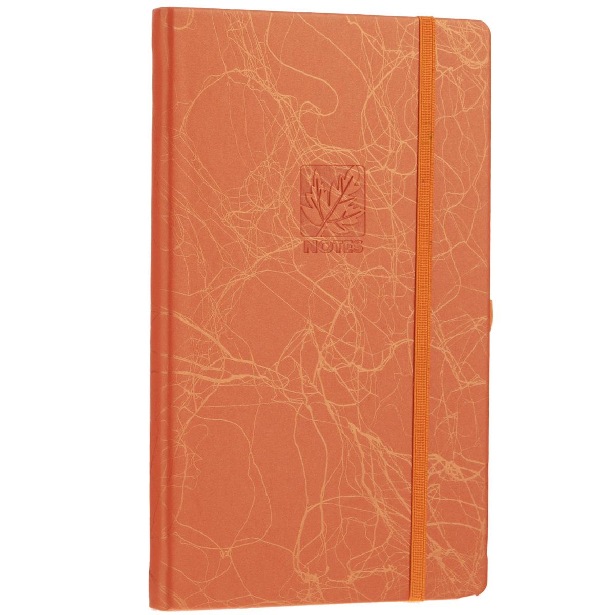 Записная книжка Erich Krause Scribble, цвет: оранжевый, 96 листов36773Записная книжка Erich Krause Scribble - это дополнительный штрих к вашему имиджу. Демократичная в своем содержании, книжка может быть использована не только для личных пометок и записей, но и как недатированный ежедневник. Надежная твердая обложка из плотного картона, обтянутого искусственной кожей, сохранит ее в аккуратном состоянии на протяжении всего времени использования. Плотная в линейку бумага белого цвета, закладка-ляссе, практичные скругленные углы, эластичная петелька для ручки и внутренний бумажный карман на задней обложке - все это обеспечит вам истинное удовольствие от письма. В начале книжки имеется страничка для заполнения личных данных владельца, четыре страницы для заполнения адресов, телефонов и интернет-почты и четыре страницы для заполнения сайтов и ссылок. Благодаря небольшому формату книжку легко взять с собой. Записная книжка плотно закрывается при помощи фиксирующей резинки.