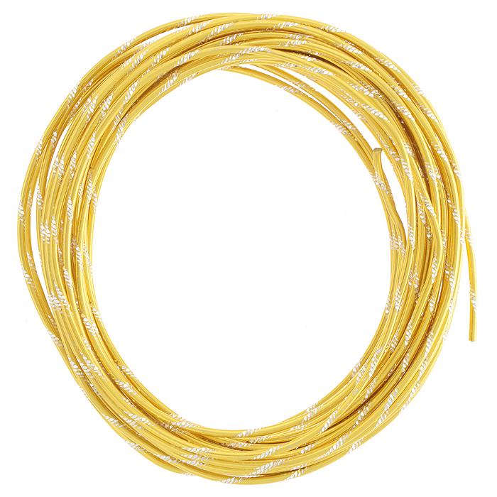Проволока для рукоделия Астра, цвет: золотистый (014), 2 мм х 10 м. 7704105_0147704105_014 желтыйПроволока для рукоделия Астра, изготовленная из алюминия, может быть использована для создания различных изделий бижутерии, для декора фотоальбомов, домашнего интерьера и других целей. Она имеет красивые, переливающиеся насечки. Проволока - это очень распространенный и легкодоступный материал. Ее изготавливают из разных металлов и покрывают лаками разных цветов, благодаря чему она обладает прекрасными декоративными свойствами. Проволока является хорошим материалом для плетения, а для достижения эффектного украшения можно сочетать несколько цветов проволоки.