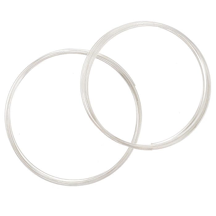 Проволока для браслета Астра, с памятью, цвет: серебристый, 1,2 мм х 0,5 мм, 2 шт7705123_сереброПроволока Астра, изготовленная из металла, используется для создания браслетов. Проволока с памятью - это жесткая проволока, закрученная в кольца с различным диаметром. Она хорошо держит форму кольца, и ее трудно согнуть как то иначе. Изделие изготавливают из разных металлов и покрывают лаками разных цветов, благодаря чему она обладает прекрасными декоративными свойствами. Проволока является хорошим материалом для плетения, а для достижения эффектного украшения можно сочетать несколько цветов проволоки.