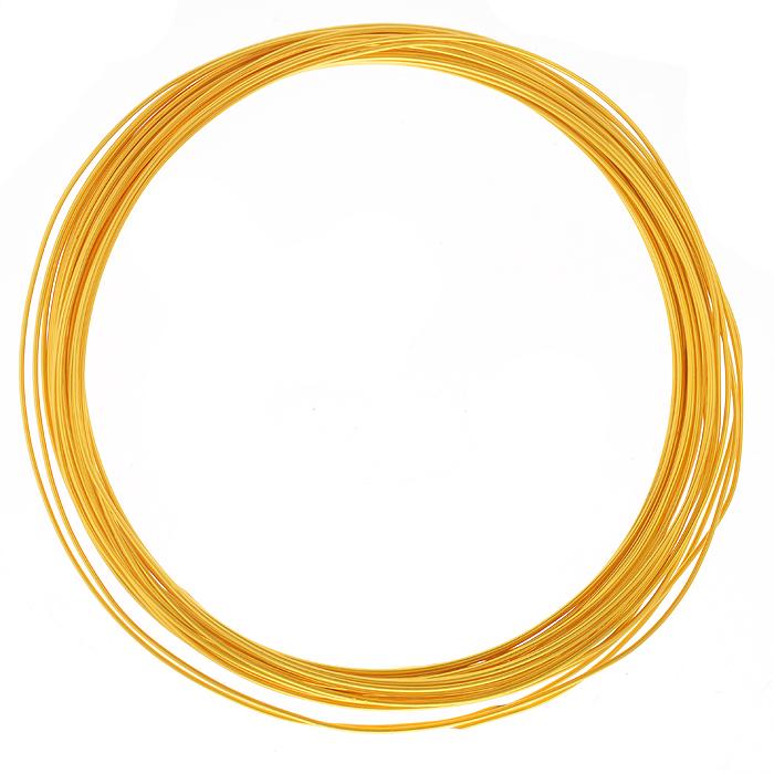 Проволока для рукоделия Астра, цвет: золотистый (17), 1 мм х 10 м7701209_17Проволока для рукоделия Астра, изготовленная из алюминия, может быть использована для создания различных изделий бижутерии, для декора фотоальбомов, домашнего интерьера и других целей. Проволока - это очень распространенный и легкодоступный материал. Ее изготавливают из разных металлов и покрывают лаками разных цветов, благодаря чему она обладает прекрасными декоративными свойствами. Проволока является хорошим материалом для плетения, а для достижения эффектного украшения можно сочетать несколько цветов проволоки.