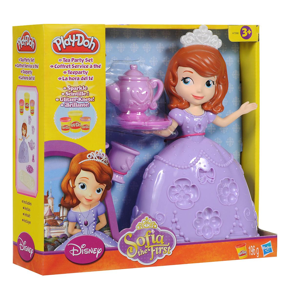 Play-Doh Игровой набор Tea Party Set, с пластилином