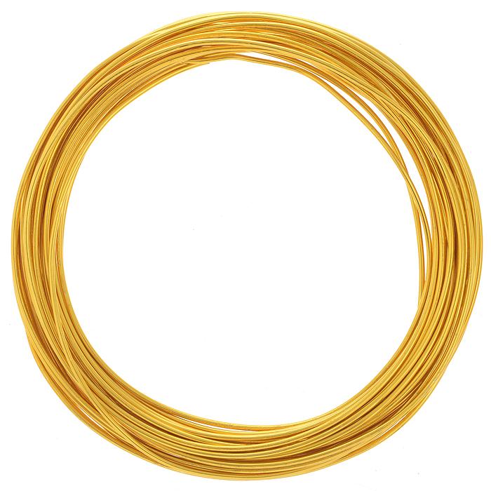 Проволока для рукоделия Астра, цвет: золотистый (17), 1,5 мм х 10 м7701210_17Проволока для рукоделия Астра, изготовленная из алюминия, может быть использована для создания различных изделий бижутерии, для декора фотоальбомов, домашнего интерьера и других целей. Проволока - это очень распространенный и легкодоступный материал. Ее изготавливают из разных металлов и покрывают лаками разных цветов, благодаря чему она обладает прекрасными декоративными свойствами. Проволока является хорошим материалом для плетения, а для достижения эффектного украшения можно сочетать несколько цветов проволоки.