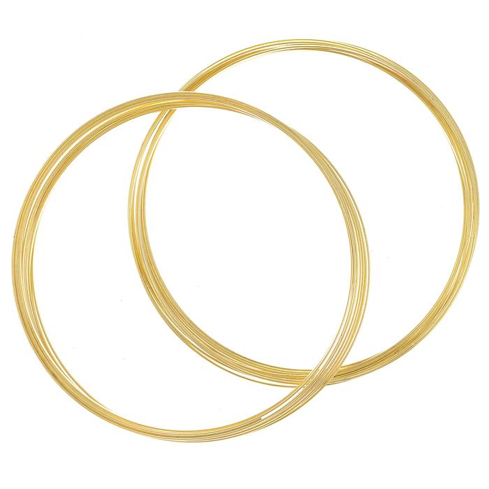 Проволока для браслета Астра, с памятью, цвет: золотистый, 1,2 мм х 0,5 мм, 2 шт7705123_золотоПроволока Астра, изготовленная из металла, используется для создания браслетов. Проволока с памятью - это жесткая проволока, закрученная в кольца с различным диаметром. Она хорошо держит форму кольца, и ее трудно согнуть как то иначе. Изделие изготавливают из разных металлов и покрывают лаками разных цветов, благодаря чему она обладает прекрасными декоративными свойствами. Проволока является хорошим материалом для плетения, а для достижения эффектного украшения можно сочетать несколько цветов проволоки.
