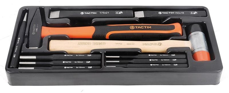 Набор инструментов Tactix, 11 предметов. 327506327506Набор инструментов Tactix - это необходимый предмет в каждом доме. Он включает в себя 11 предметов. Инструменты выполнены из высококачественной стали. Такой набор будет идеальным подарком мужчине. Состав набора: Ключи шестигранные: 2 мм, 3 мм, 4 мм, 5 мм, 6 мм, 8 мм. Долото: 18 х 150 мм, 21 х 175 мм. Молоток-киянка с деревянной рукояткой. Молоток: 300 г. Кернер: 5 х 150 мм.