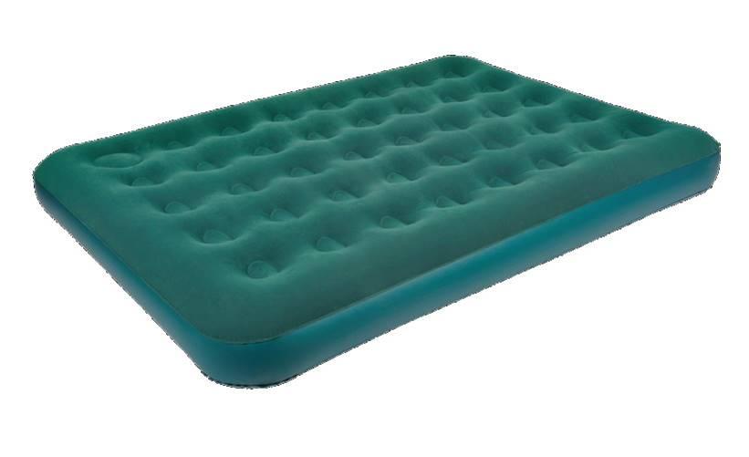 """Кровать надувная Relax, """"Air Bed Plus Queen"""", со встроенным ножным насосом, цвет: зеленый, 203 см х 152 см х 22 см"""