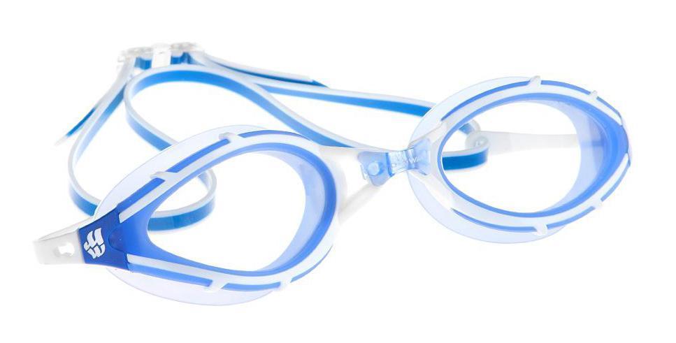 Очки для плавания Mad Wave UV Blocker, цвет: синий10015332Очки с фотохромными линзами для использования, как в закрытых бассейнах, так и в открытых водоемах. В закрытых помещениях линзы абсолютно прозрачны, на солнце из-за фотохроматического эффекта линзы будут затемняться и блокировать излучение ультрафиолета. Антизапотевающие стекла. Линзы из триацетатцеллюлозы. Вид переносицы - моноблок. Оправа - термопластичная резина. Силиконовый обтюратор и ремешок.