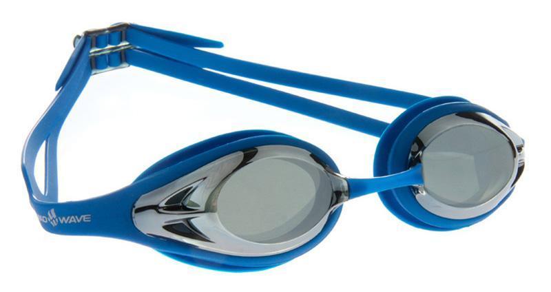 """Очки для плавания MadWave """"Alligator mirror"""", цвет: синий M0427 14 0 03W"""