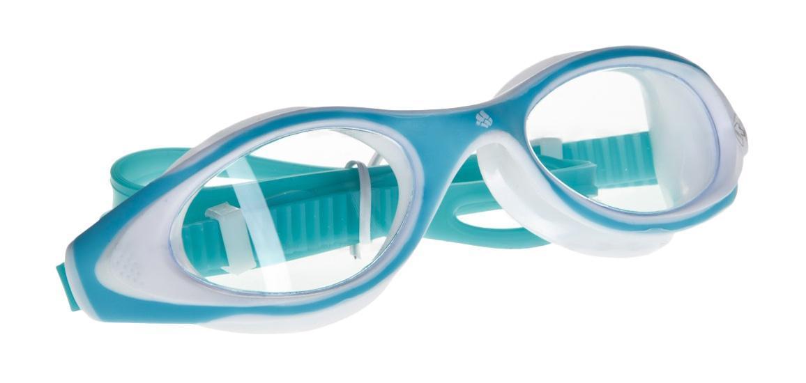 Очки для плавания MadWave Flame, цвет: бирюзовый, белыйM0431 13 0 16WУдобные очки MadWave Flame с широким углом обзора, идиально подходят для спорта и отдыха. Внедрение антифога в линзы капиллярным способом дает максимальную антизапотевающую защиту. Полировка линз обеспечивает кристальную чистоту изображения. Защита блокирует 100% вредного УФ-излучения по всему спектру (до 400 нм). В комплекте удобный чехол. Характеристики: Цвет: бирюзовый, белый. Материал: поликарбонат, силикон. Размер наглазника: 6 см х 4,5 см. Длина оправы: 16,5 см. Изготовитель: Китай. Размер упаковки: 18 см х 6 см х 4 см.