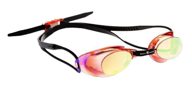 """Очки для плавания MadWave """"Liquid Racing Mirror"""", цвет: красный M0453 02 0 05W"""