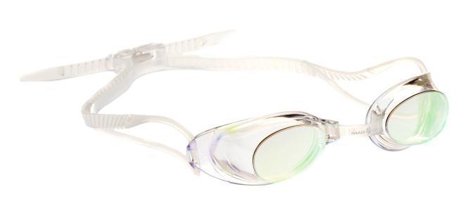 Очки для плавания MadWave Liquid Racing Mirror, цвет: прозрачныйM0453 02 0 00WСтартовые очки сертифицированные FINA (международная федерация плавания). Двойной силиконовый ремешок для надежной фиксации очков. Очки поставляются в виде набора. Линзы с зеркальным покрытием защищают глаза при плавании на открытой воде и в бассейнах с ярким освещением. Многоступенчатая перемычка позволяет легко настроить очки под нужный размер. Защита от ультрафиолетовых лучей. Антизапотевающие стекла. Линзы из поликарбоната. Вид переносицы - регулируемая многоступенчатая перемычка. Линзы без обтюратора. Характеристики: Материал: силикон, пластик. Размер маски: 16 см х 4 см. Цвет: прозрачный. Размер упаковки: 11,5 см х 8,5 см х 3,5 см. Артикул: M0453 02 0 00W.