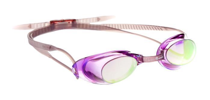Очки для плавания MadWave Liquid Racing Mirror, цвет: фиолетовыйM0453 02 0 09WСтартовые очки сертифицированные FINA (международная федерация плавания). Двойной силиконовый ремешок для надежной фиксации очков. Очки поставляются в виде набора.Линзы с зеркальным покрытием защищают глаза при плавании на открытой воде и в бассейнах с ярким освещением. Многоступенчатая перемычка позволяет легко настроить очки под нужный размер. Защита от ультрафиолетовых лучей. Антизапотевающие стекла. Линзы из поликарбоната. Вид переносицы - регулируемая многоступенчатая перемычка. Линзы без обтюратора.