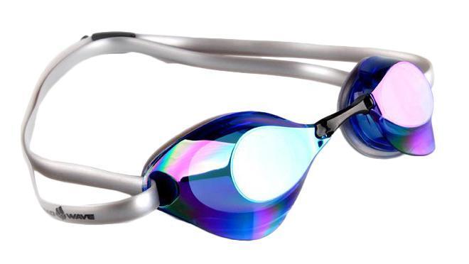 Очки для плавания стартовые MadWave Turbo Racer II Rainbow, цвет: синийM0458 06 0 03WОчки для плавания стартовые MadWave Turbo Racer II Rainbow с зеркальным покрытием, меняющим цвет. Гидродинамическая форма линз для уменьшения сопротивления. Низкопрофильный силиконовый обтюратор для комфорта. Двойной силиконовый ремешок с затылочной клипсой для надёжной фиксации очков. 3 сменных переносицы для идеальной настройки. Антизапотевающие линзы из поликарбоната с зеркальным покрытием и защитой от ультрафиолетовых лучей. Предназначены для тренировок и стартов. Характеристики: Цвет: синий. Материал: поликарбонат, силикон. Размер наглазника: 6 см х 4 см. Изготовитель: Китай. Размер упаковки: 11 см х 9 см х 4 см.