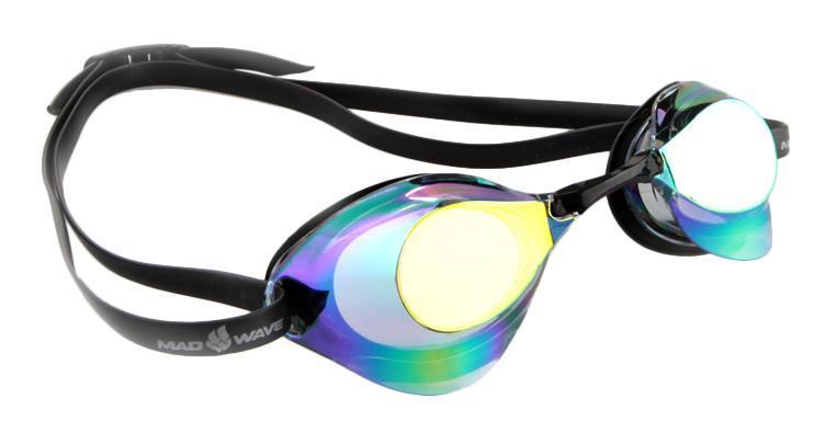 Очки для плавания стартовые MadWave Turbo Racer II Rainbow, цвет: фиолетовыйM0458 06 0 09WОчки для плавания стартовые MadWave Turbo Racer II Rainbow с зеркальным покрытием, меняющим цвет. Гидродинамическая форма линз для уменьшения сопротивления. Низкопрофильный силиконовый обтюратор для комфорта. Двойной силиконовый ремешок с затылочной клипсой для надёжной фиксации очков. 3 сменных переносицы для идеальной настройки. Антизапотевающие линзы из поликарбоната с зеркальным покрытием и защитой от ультрафиолетовых лучей. Предназначены для тренировок и стартов.