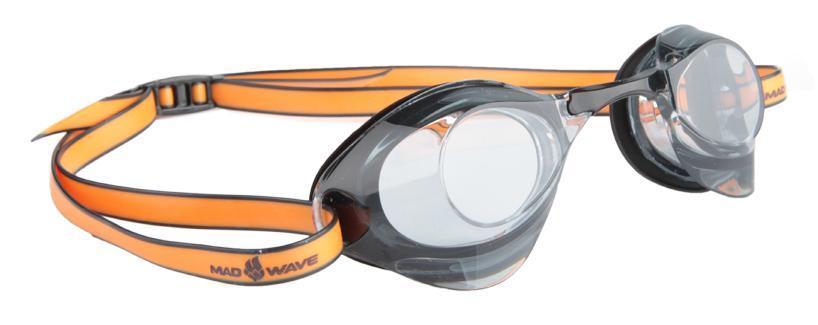 Очки для плавания стартовые MadWave Turbo Racer II, цвет: черныйM0458 08 0 01WОчки для плавания стартовые MadWave Turbo Racer II. Гидродинамическая форма линз для уменьшения сопротивления. Низкопрофильный силиконовый обтюратор для комфорта. Двойной силиконовый ремешок с затылочной клипсой для надёжной фиксации очков. 3 сменных переносицы для идеальной настройки. Антизапотевающие линзы из поликарбоната с защитой от ультрафиолетовых лучей. Предназначены для тренировок и стартов. Характеристики: Цвет: черный. Материал: поликарбонат, силикон. Размер наглазника: 6 см х 4 см. Изготовитель: Китай. Размер упаковки: 11 см х 9 см х 4 см.