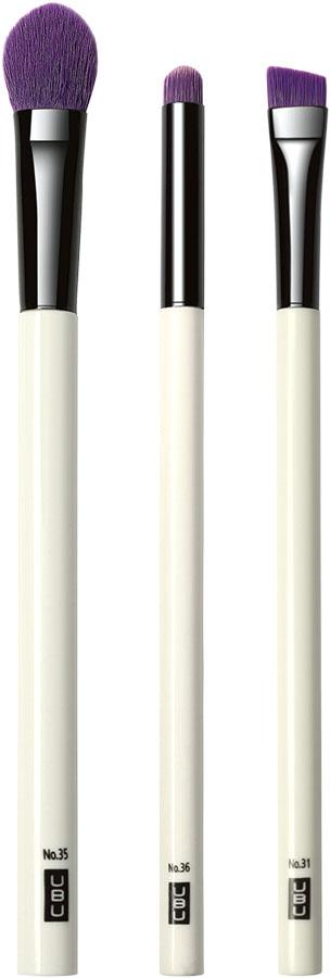 UBU Набор кистей для создания эффекта Smokey Eye, 3 шт. 19-506419-5064 белый,сиреневыйНабор кистей для создания эффекта Smokey Eye. Покорите весь мир красотой Smokey Eyes, ультрамодного эффекта, который легко создать с помощью специальных кистей! В набор входят: кисть для контура глаз, кисть для растушевки и скошенная кисть для смешивания теней. Товар сертифицирован.