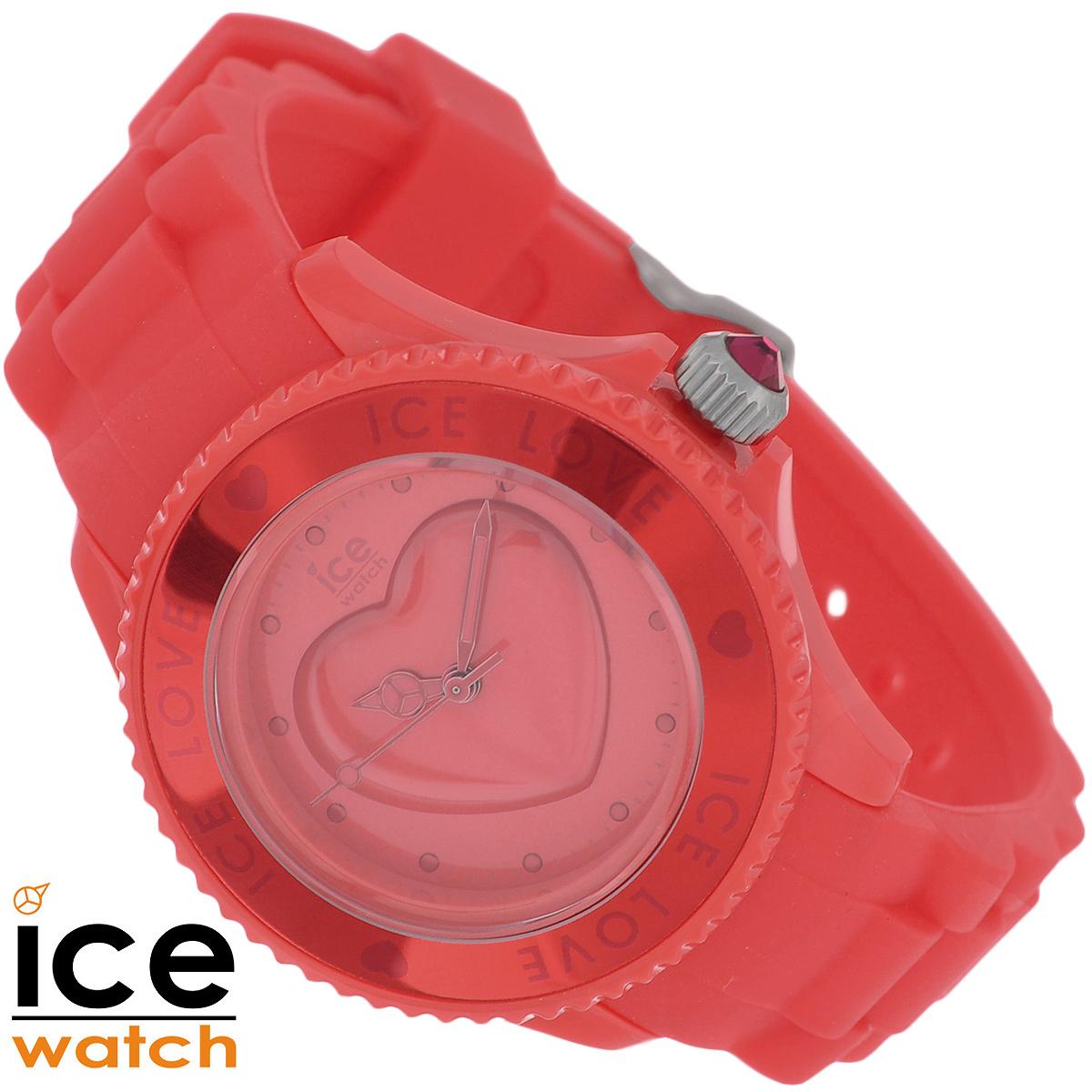 Часы женские наручные Ice Watch, цвет: красный. LO.RD.S.S.10 SmallLO.RD.S.S.10Стильные женские часы Ice watch - это яркий функциональный аксессуар для современных девушек, которые стремятся выделиться из толпы и подчеркнуть свою индивидуальность. Часы оснащены японским кварцевым механизмом Miyota 2033. Корпус часов выполнен из нержавеющей стали с покрытием из пластика. Циферблат декорирован кристаллами Swarovski, оформлен декоративным элементом в виде выпуклого сердца и защищен минеральным стеклом. Часы имеют три стрелки - часовую, минутную и секундную. Ремешок выполнен из силикона и застегивается на классическую застежку. Заводная головка часов украшена кристаллом. Часы упакованы в фирменную коробку с логотипом Ice watch. Такой аксессуар добавит вашему образу стиля и подчеркнет безупречный вкус своей владелицы. Характеристики: Диаметр циферблата: 2,5 см. Размер корпуса: 3,7 см х 4 см х 1 см. Длина ремешка (с корпусом): 21,5 см. Ширина ремешка: 1,5 см.