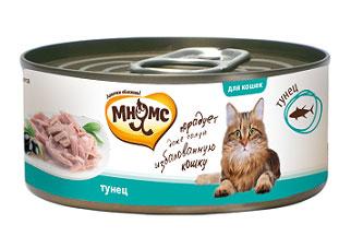 Консервы для кошек Мнямс, с тунцом, 70 г700705Консервы для котят Мнямс состоят исключительно из отборных натуральных компонентов и не содержат сою, искусственные красители и усилители вкуса. В процессе производства консервов используется только отборное парное и охлажденное, а не замороженное сырье. Состав: тунец (50%), рис (1%), вода, каррагинан. Аналитический состав: белок 15,69%, жир 0,37%, клетчатка 0,01%, зола 0,82%, влажность 81,84%. Вес: 70 г. Товар сертифицирован.