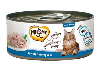 Консервы для кошек Мнямс, с тунцом и анчоусами, 70 г700897Консервы для котят Мнямс состоят исключительно из отборных натуральных компонентов и не содержат сою, искусственные красители и усилители вкуса. В процессе производства консервов используется только отборное парное и охлажденное, а не замороженное сырье. Именно поэтому данный продукт производится в месте вылова тунца - Таиланде. Консервы на основе тунца изготовлены с добавлением анчоусов. Состав: тунец (44,3%), анчоус (5,7%), рис (1%), вода, каррагинан. Аналитический состав: белок 13,85%, жир 0,39%, клетчатка 0,01%, зола 1,53%, влажность 81,88%. Вес: 70 г. Товар сертифицирован.