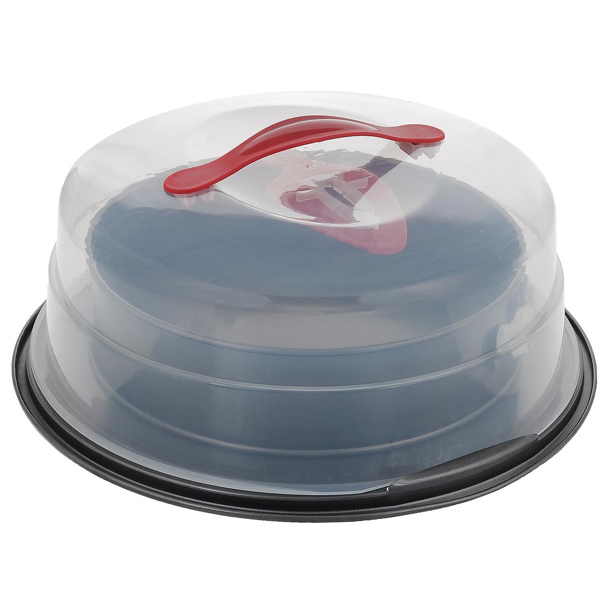Набор для выпечки, 3 предметаSL-E7010Форма для выпечки изготовлена из углеродистой стали. Особое высокотехнологичное антипригарное покрытие препятствует пригоранию пищи и обеспечивает легкую очистку после использования. Форма разъемная, что облегчает мытье и обеспечивает легкое извлечение. Форма оснащена специальной подставкой, идеально подходящей для сервировки готовой выпечки. Для формы предусмотрена прозрачная пластиковая крышка с ручкой. В наборе также имеется пластиковая лопатка для сервировки пищи. С помощью зубчатого края выпечку легко разрезать. В наборе есть все необходимое для приготовления и сервировки выпечки. Можно мыть в посудомоечной машине. Не использовать абразивные моющие средства и мочалки.