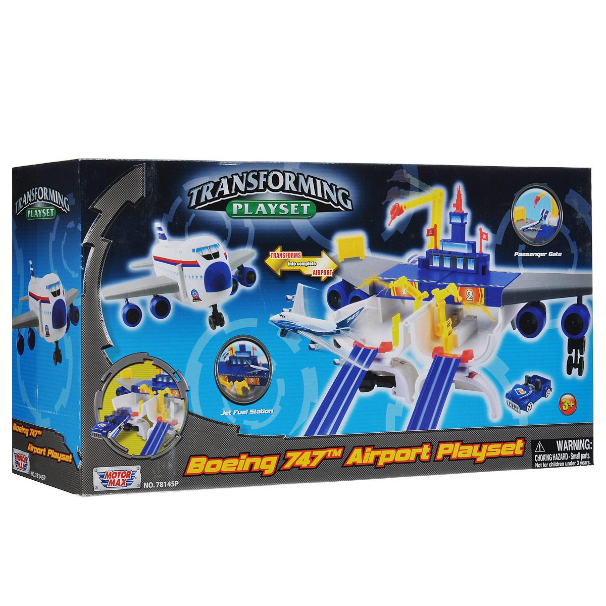 """MotorMax Игровой набор """"Boeing 747. Airport Playset"""" 78145P"""
