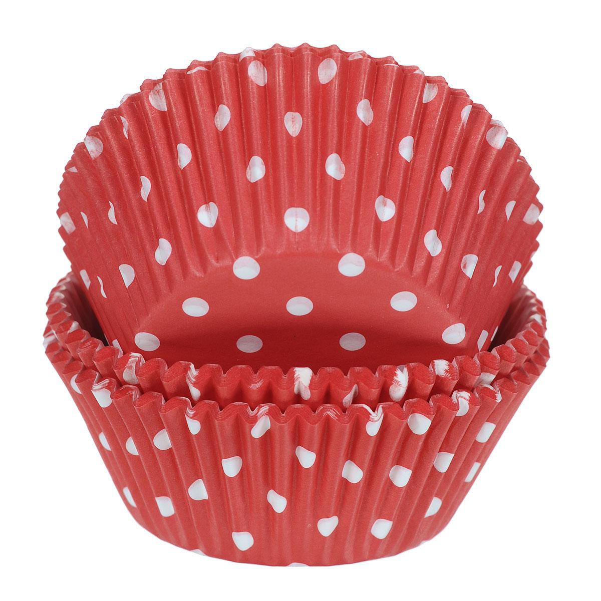 Набор бумажных форм для кексов Wilton Красный горох, диаметр 7 см, 75 штWLT-415-0148Бумажные формы Wilton Красный горох используются для выпечки, украшения и упаковки кондитерских изделий, сервировки конфет, орешков, десертов. Края форм гофрированные. С такими формами вы всегда сможете порадовать своих близких оригинальной выпечкой.