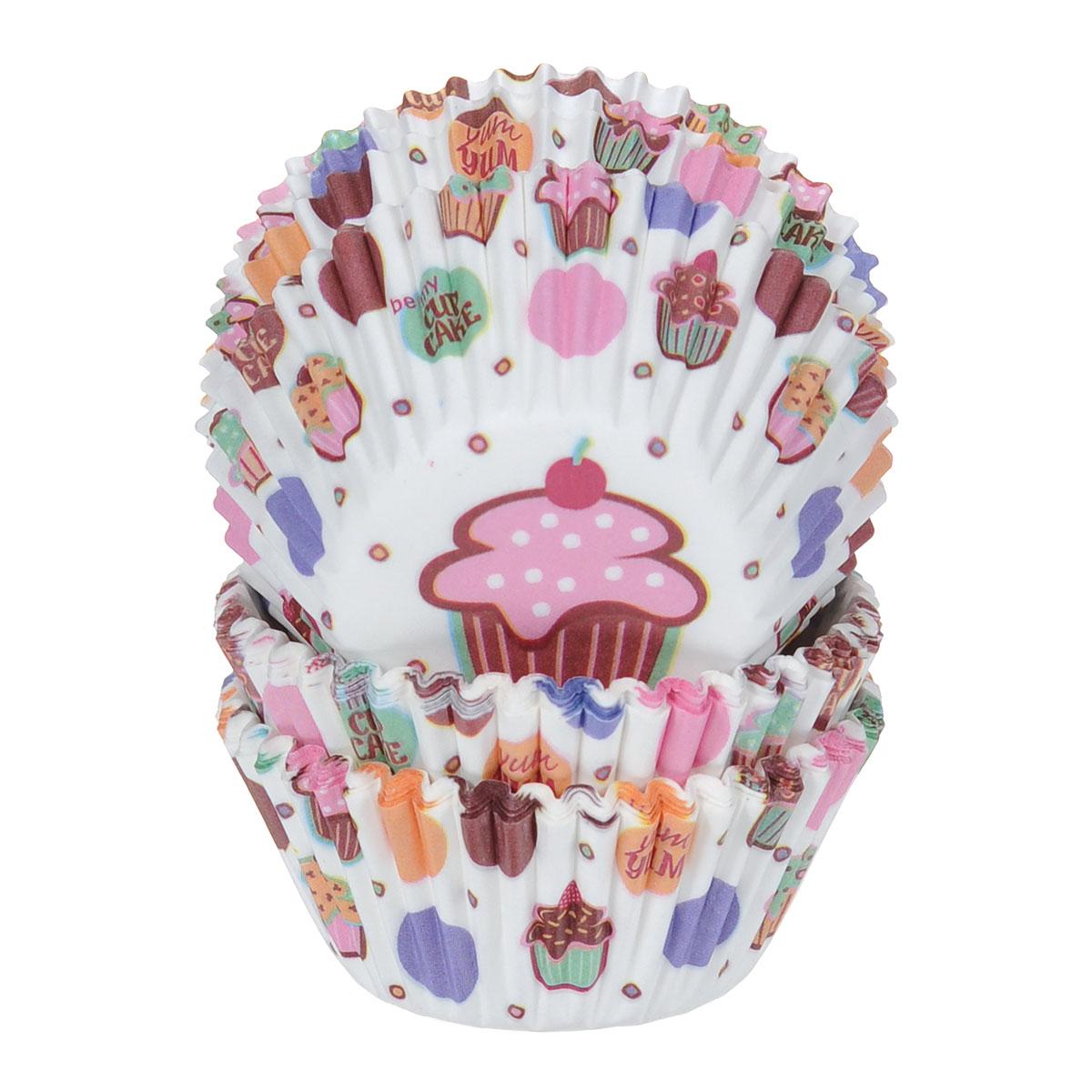 Набор бумажных мини-форм для кексов Wilton Мой кекс, диаметр 3,2 см, 75 штWLT-415-128Бумажные мини-формы Wilton Мой кекс используются для выпечки, украшения и упаковки кондитерских изделий, сервировки конфет, орешков, десертов. Края форм гофрированные. С такими формами вы всегда сможете порадовать своих близких оригинальной выпечкой.