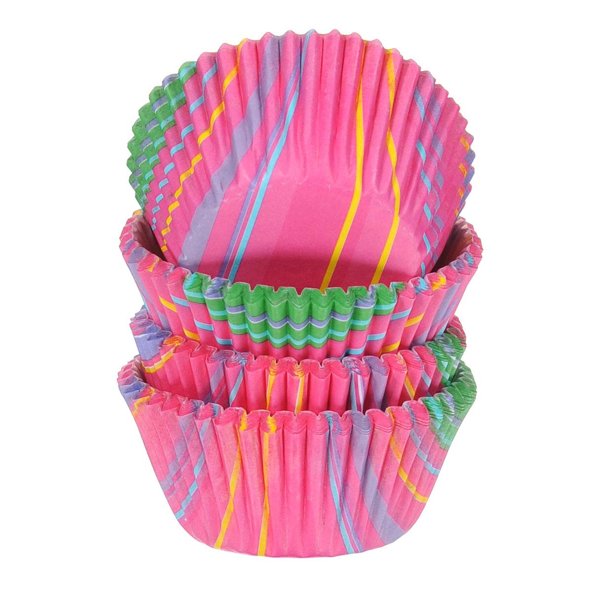 Набор бумажных мини-форм для кексов Wilton Полосы, диаметр 3,2 см, 100 штWLT-415-5380Бумажные мини-формы Wilton Полосы используются для выпечки, украшения и упаковки кондитерских изделий, сервировки конфет, орешков, десертов. Края форм гофрированные. С такими формами вы всегда сможете порадовать своих близких оригинальной выпечкой.