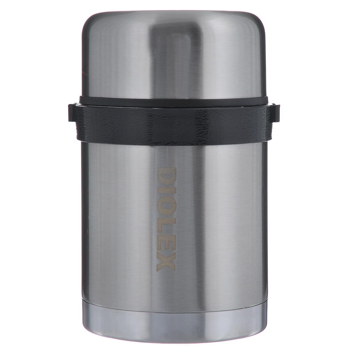 Термос Diolex, 0,8 л. DXF-800-1DXF-800-1Термос Diolex изготовлен из высококачественной нержавеющей стали. Он имеет небьющуюся двойную внутреннюю колбу и изолированную крышку. Съемный ремешок для переноски делает использование термоса легким и удобным. Термос сохраняет напитки и продукты горячими в течение 12 часов, а холодными в течение 24 часов. Легкий и прочный термос Diolex идеально подойдет для транспортировки и путешествий. Высота термоса (с учетом крышки): 18 см. Диаметр основания: 10 см. Объем термоса: 0,8 л. Материал: нержавеющая сталь, пластик, текстиль.