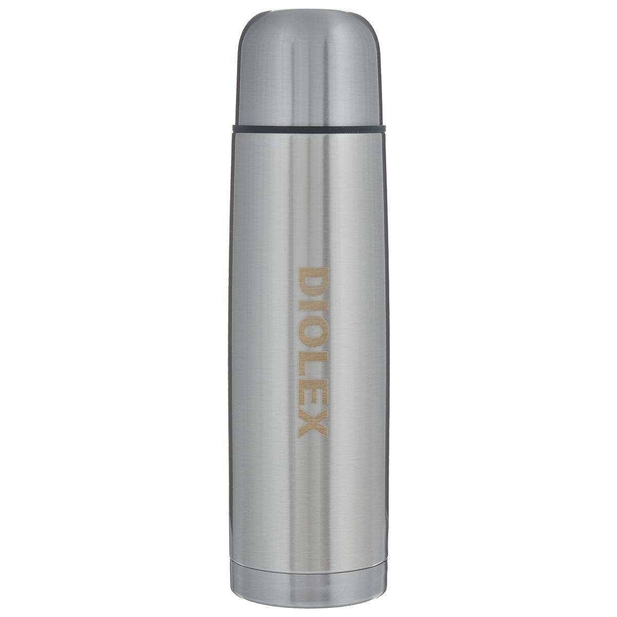 Термос Diolex, с узким горлом, 0,5 л. DX-500-1DX-500-1Термос Diolex изготовлен из высококачественной нержавеющей стали. Он имеет небьющуюся двойную внутреннюю колбу и изолированную крышку. Термос сохраняет напитки и продукты горячими в течение 12 часов, а холодными в течение 24 часов. Легкий и прочный термос Diolex идеально подойдет для транспортировки и путешествий. Высота термоса (с учетом крышки): 25 см. Диаметр основания: 6,5 см. Объем термоса: 0,5 л. Материал: нержавеющая сталь, пластик.