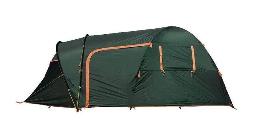 Палатка Husky Blander 5 Dark Green, цвет: темно-зеленыйУТ-000047021Blander 5 - двухслойная однокомнатная палатка для пяти человек с огромным тамбуром и двумя входами с наружным и внутренним расположением дуг. Легкость установки, вестибюль без пола с прозрачными окнами со шторками, окна из москитной сетки в спальне. Палатка отлично подходит для разнообразного туризма и кемпинга. Аксессуары в комплекте: стальные колышки, растяжки, ремкомплект. Палатка упакована в сумку с двумя удобными ручками. Сумка застегивается на застежку-молнию.