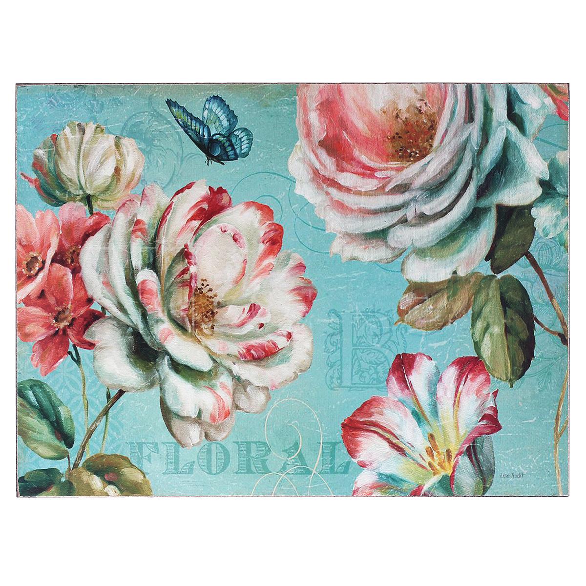 Картина-репродукция Цветы, без рамки, 30 см х 40 см. 3601236012Картина-репродукция Цветы, выполненная из МДФ масляной печатью с ручной подрисовкой, дополнит интерьер любого помещения, а также может стать изысканным подарком для ваших друзей и близких. На картине изображены цветы и бабочка. Благодаря оригинальному дизайну картина может использоваться для оформления любых интерьеров: гостиной, спальни, кухни, прихожей, детской или офиса. Изделие оснащено двумя отверстиями сзади для подвешивания на стену. Такая картина - вдохновляющее декоративное решение, привносящее в интерьер нотки творчества и изысканности!