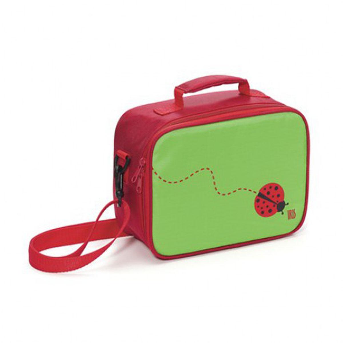 IRIS Термосумка ЛанчБокс SNACK RICO/ Зеленая9918-TI«СнэкРико» МиниЛанч Бокс – это самый идеальный способ взять с собой в школу вашу лю-бимую еду! Изнутри покрыт специальным теплоизолирующим материалом, способным надолго сохра-нить свежесть и вкус. Внутри есть сетчатый карман для салфеток, столовых приборов или аксессуаров и т.п. Сна-ружи есть карман на молнии для личных вещей и пластиковый прозрачный кармашек для карточки с персональной информацией (имя, фамилия, телефон и пр.). Можно нести в руках или повесить на плечо. Плечевой ремень регулируется по длине. В комплект входит подарок – забавный брелок для ключей из коллекции «СнэкРико».