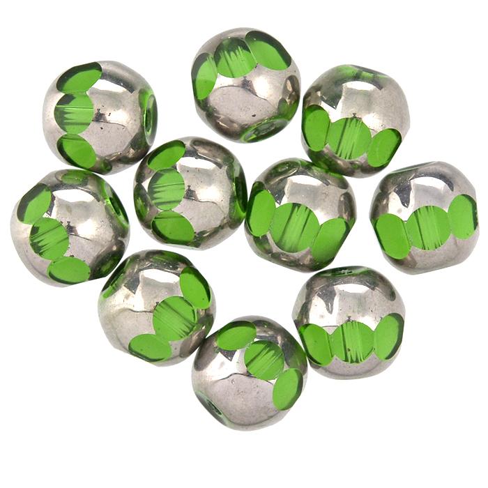 Бусины Астра, цвет: зеленый (1), диаметр 8 мм, 10 шт. 7702762_17702762_1Набор бусин Астра, изготовленный из стекла, позволит вам своими руками создать оригинальные ожерелья, бусы или браслеты. Двухцветные круглые бусины оригинального и яркого дизайна оснащены рельефными, многогранными поверхностями. Изготовление украшений - занимательное хобби и реализация творческих способностей рукодельницы, это возможность создания неповторимого индивидуального подарка.