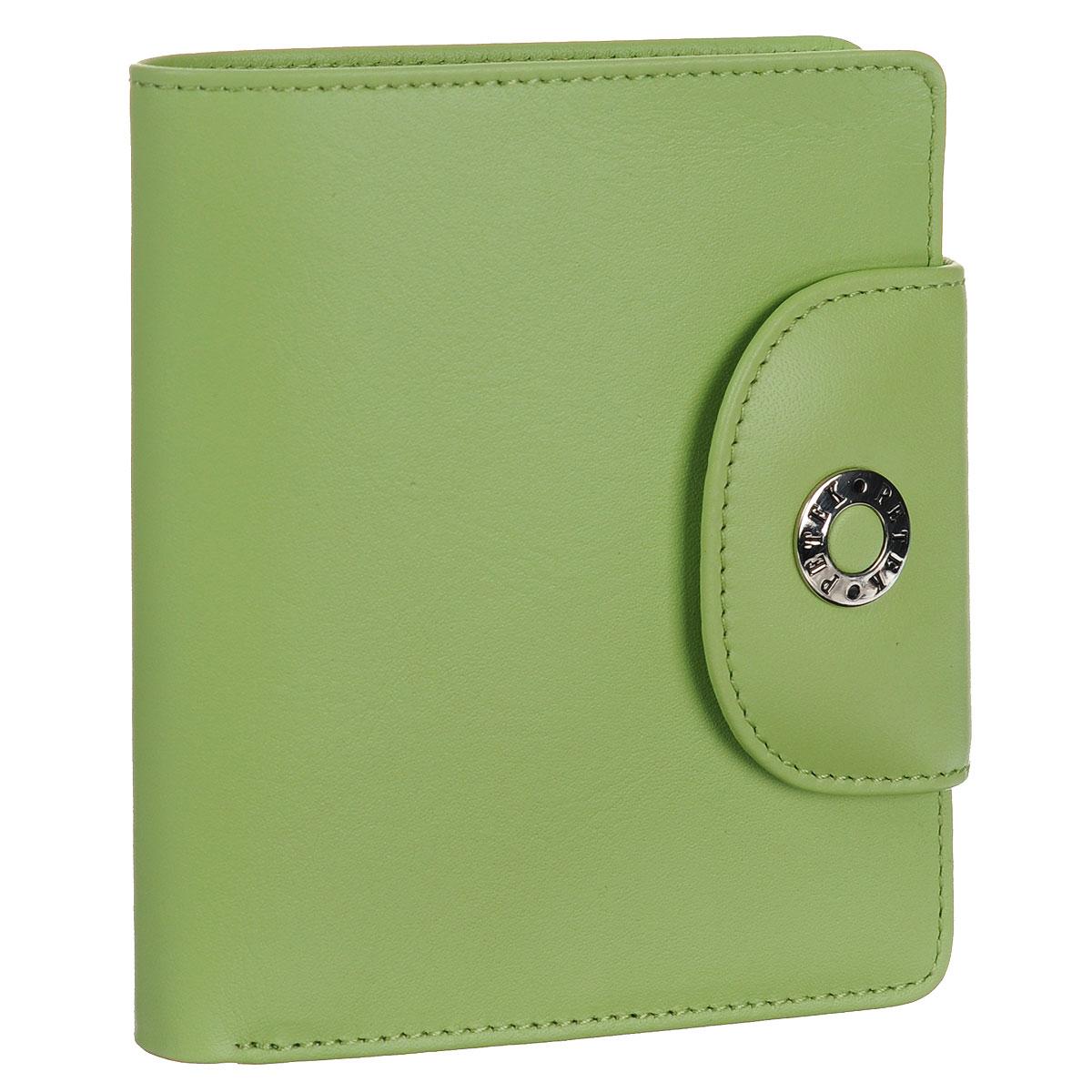 Портмоне Petek, цвет: салатовый. 346.167.93346.167.93 Sharp GreenСтильное портмоне Petek изготовлено из высококачественной натуральной кожи с гладкой поверхностью. Изделие закрывается при помощи клапана на кнопку. Внутри - два отделения для купюр, карман для мелочи на кнопке, два потайных кармана, три прорезных кармашка для кредиток и два кармана для чеков и мелких бумаг. Стильное и практичное портмоне Petek идеально подчеркнет ваш образ. Упаковано в фирменную картонную коробку с логотипом брэнда.