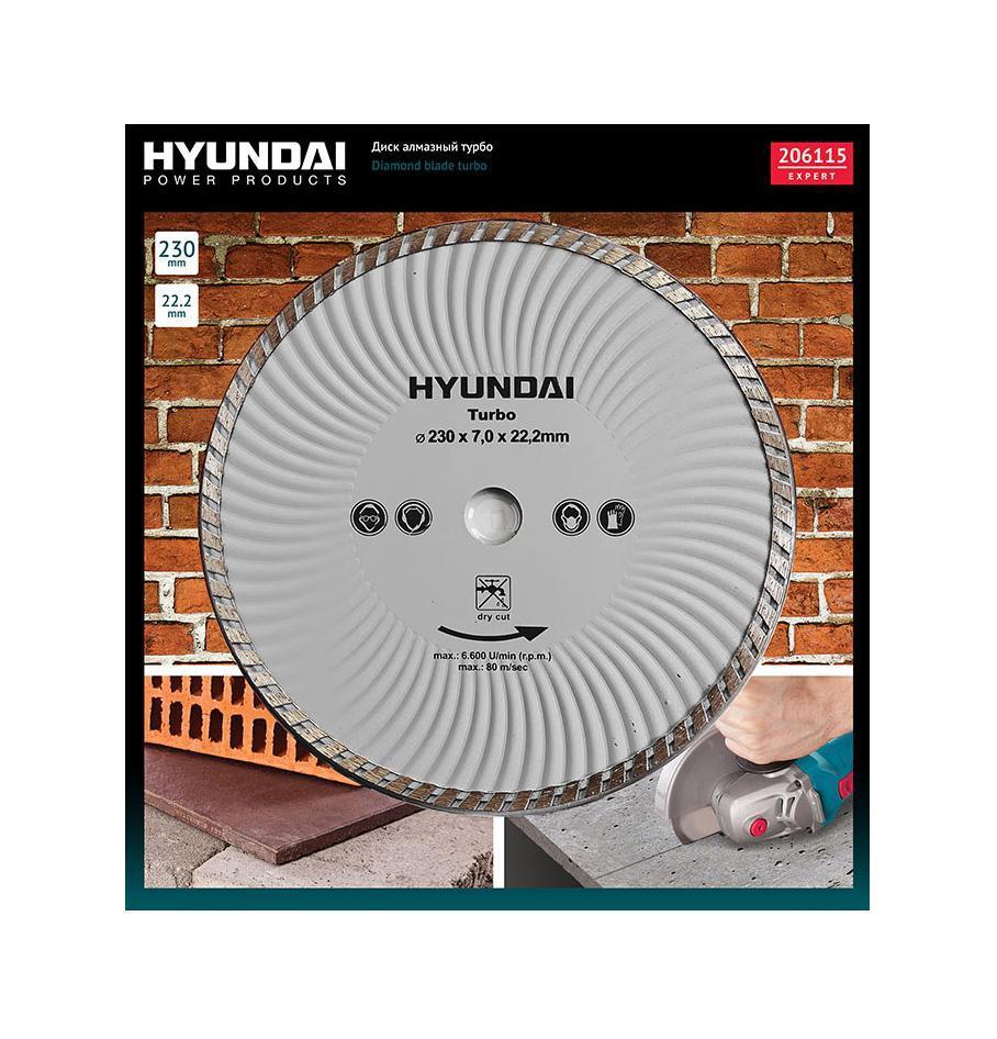 Hyundai диск алмазный турбо, 230 х 22,2 мм (206115)206115