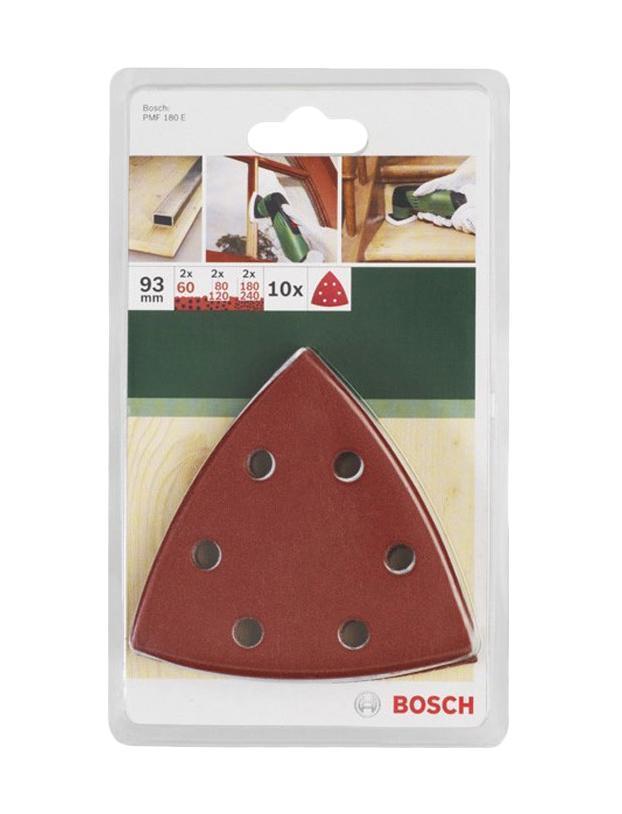 Bosch набор из 10 шлифлистов (2609256957)