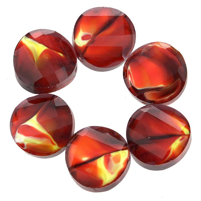 Бусины Астра, цвет: темно-красный (10), диаметр 14 мм, 6 шт. 7702767_107702767_10Набор бусин Астра, изготовленный из стекла, позволит вам своими руками создать оригинальные ожерелья, бусы или браслеты. Разноцветные бусины оригинального и яркого дизайна выполнены в виде кругов с выгнутыми краями. Изготовление украшений - занимательное хобби и реализация творческих способностей рукодельницы, это возможность создания неповторимого индивидуального подарка.