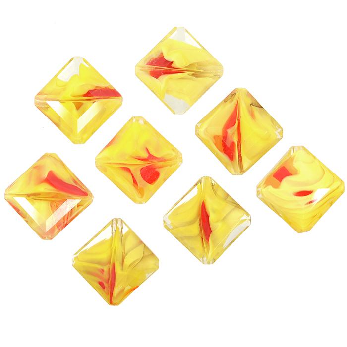 Бусины Астра, цвет: желтый (7), 13 мм х 6 мм, 8 шт. 7702766_77702766_7Набор бусин Астра, изготовленный из стекла, позволит вам своими руками создать оригинальные ожерелья, бусы или браслеты. Бусины украшены красивыми узорами и выполнены в квадратной форме. Изготовление украшений - занимательное хобби и реализация творческих способностей рукодельницы, это возможность создания неповторимого индивидуального подарка.