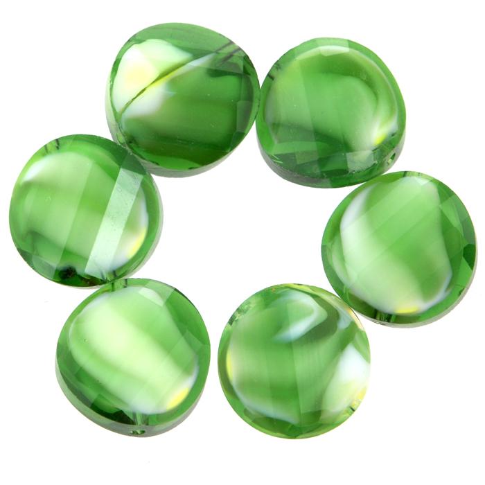 Бусины Астра, цвет: зеленый (9), диаметр 14 мм, 6 шт. 7702767_97702767_9Набор бусин Астра, изготовленный из стекла, позволит вам своими руками создать оригинальные ожерелья, бусы или браслеты. Разноцветные бусины оригинального и яркого дизайна выполнены в виде кругов с выгнутыми краями. Изготовление украшений - занимательное хобби и реализация творческих способностей рукодельницы, это возможность создания неповторимого индивидуального подарка.