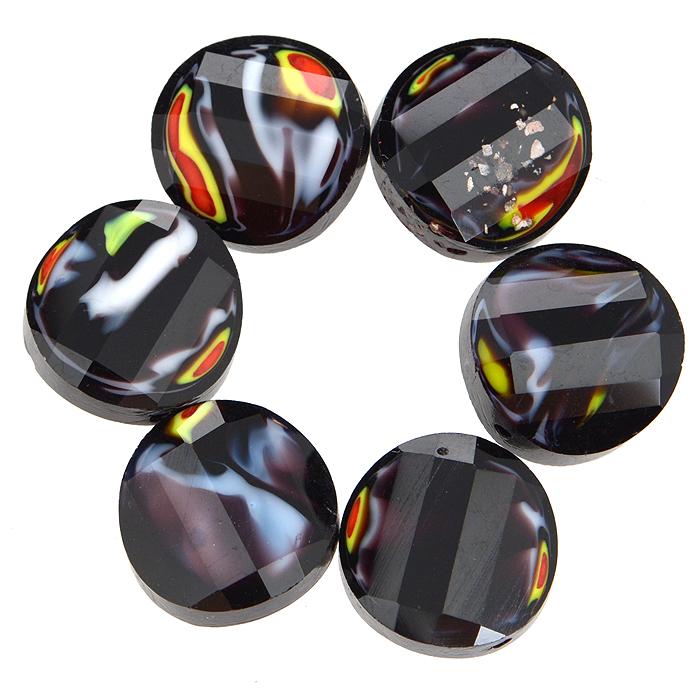 Бусины Астра, цвет: черный (2), диаметр 14 мм, 6 шт. 7702767_27702767_2Набор бусин Астра, изготовленный из стекла, позволит вам своими руками создать оригинальные ожерелья, бусы или браслеты. Разноцветные бусины оригинального и яркого дизайна выполнены в виде кругов с выгнутыми краями. Изготовление украшений - занимательное хобби и реализация творческих способностей рукодельницы, это возможность создания неповторимого индивидуального подарка.