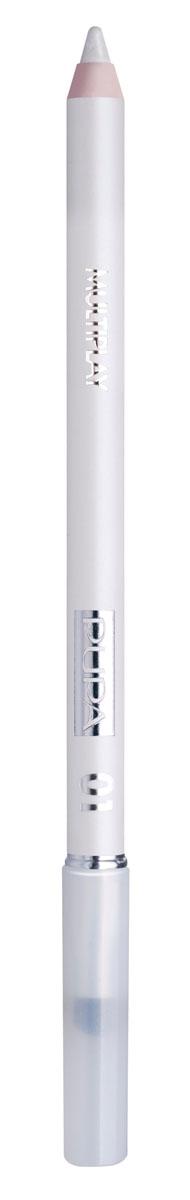 PUPA Карандаш для век с аппликатором Multiplay Eye Pencil, тон 01 белоснежный , 1.2 г244001Pupa Multiplay - карандаш для глаз 3 в 1. Сочетает в себе эффект карандаша для глаз для интенсивного цвета, эффект подводки и эффект теней для век. В состав карандаша входит масло жожоба, витамин Е и масло семени хлопчатника для защитного и успокоительного эффекта. Исключительная кремообразная текстура и латексный аппликатор обеспечивают легкое и безупречное нанесение.