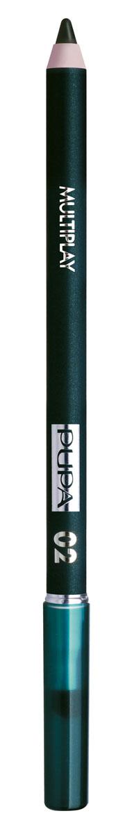PUPA Карандаш для век с аппликатором Multiplay Eye Pencil, тон 02 электрик зеленый , 1.2 г244002Pupa Multiplay - карандаш для глаз 3 в 1. Сочетает в себе эффект карандаша для глаз для интенсивного цвета, эффект подводки и эффект теней для век. В состав карандаша входит масло жожоба, витамин Е и масло семени хлопчатника для защитного и успокоительного эффекта. Исключительная кремообразная текстура и латексный аппликатор обеспечивают легкое и безупречное нанесение.