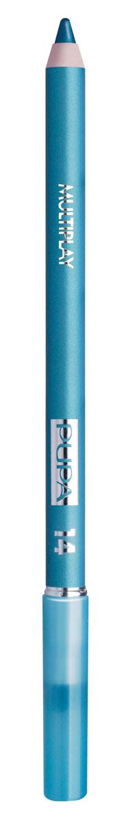 PUPA Карандаш для век с аппликатором Multiplay Eye Pencil, тон 14 зеленый , 1.2 г244014Pupa Multiplay - карандаш для глаз 3 в 1. Сочетает в себе эффект карандаша для глаз для интенсивного цвета, эффект подводки и эффект теней для век. В состав карандаша входит масло жожоба, витамин Е и масло семени хлопчатника для защитного и успокоительного эффекта. Исключительная кремообразная текстура и латексный аппликатор обеспечивают легкое и безупречное нанесение.