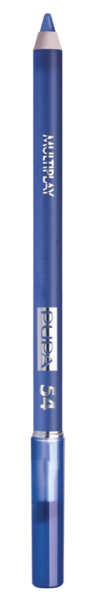 PUPA Карандаш для век с аппликатором Multiplay Eye Pencil тон 54 Индиго синий,1,2 гр.244054Контурный карандаш для глаз Multiplay тройного действия с аппликатором для растушёвки подчёркивает взгляд с помощью интенсивного и однородного цвета, которой обладает безупречной стойкостью. Мягкая и очень пластичная текстура обеспечивает лёгкое и быстрое нанесение.