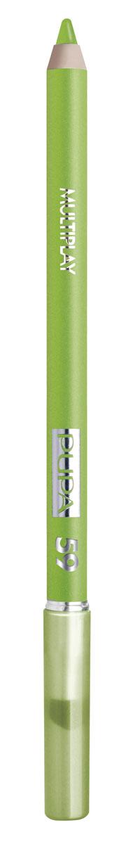 PUPA Карандаш для век с аппликатором Multiplay Eye Pencil тон №59 васаби зеленый, 1.2 г244059Контурный карандаш для глаз Multiplay тройного действия с аппликатором для растушёвки подчёркивает взгляд с помощью интенсивного и однородного цвета, которой обладает безупречной стойкостью. Мягкая и очень пластичная текстура обеспечивает лёгкое и быстрое нанесение.